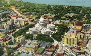 WI - Madison, Aerial View