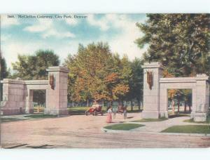 Unused Divided-Back MCCLELLAN GATEWAY AT CITY PARK Denver Colorado CO c8199
