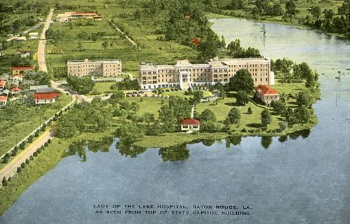 LA - Baton Rouge, Lady of the Lake Hospital, Viewed from atop Capitol Building