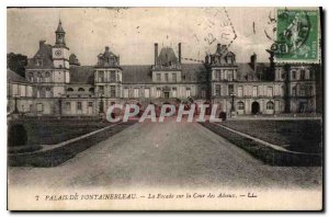 Postcard Old Palace of Fontainebleau The Facade of the Court of Farewells