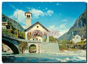 Postcard Modern Cevio Vallemaggia Chiesa della Rovana