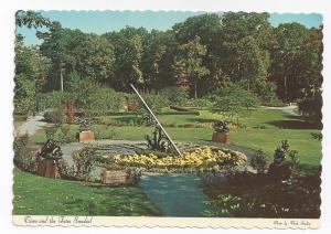 Tuxedo NY Sterling Forest Garden Flowers Sundial Postcard
