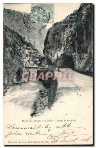 Postcard Old Du Bourg d'Oisans to La Grave Tunnel Chambon