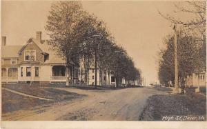 Dover Maine High Street Real Photo Antique Postcard J50954