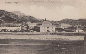 Estacao Telegrafice Cape Cabo Verde Sao Vicente Old Postcard