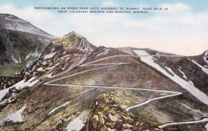 Colorado Colorado Springs Switchbacks On Pikes Peak Auto Highway To Summit