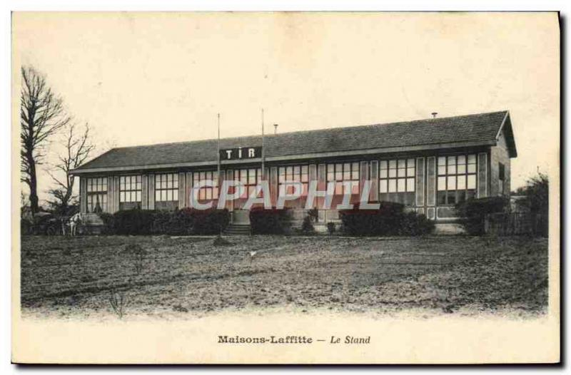 Carte Postale Ancienne Maison Laffitte The Shooting booth