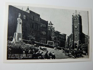 Vintage New Sun Yat Sen St Marys Catholic Church San Francisco CA RPPC Postcard