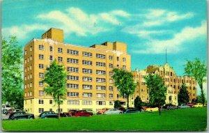 Tulsa, Oklahoma Postcard HILLCREST MEMORIAL HOSPITAL Street View Curteich Chrome