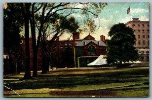 Postcard Boston MA c1907 Mass. General Hospital CDS Flag Charlestown Station