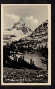 ALBERTA Vintage Mt Mount Assiniboine Sunburst Lake Postcard Canada Carte Postale