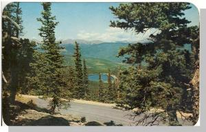 Scenic Denver Mountain Parks,Colorado/CO Postcard, Echo Lake