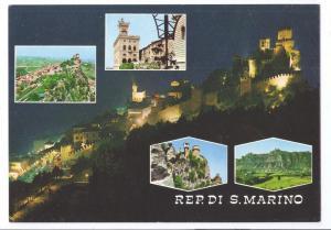 San Marino Multiview Castle Tower Night 4X6