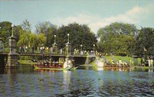 Massachusetts Boston Swan Boats Public Gardens