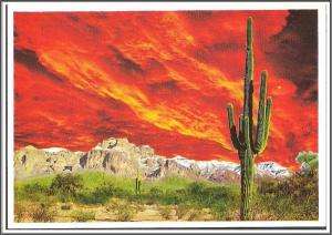 Arizona, Mesa Superstition Mountain Postcard