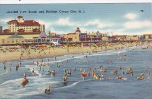 New Jersey Ocean City General View Of Beach and Bathing