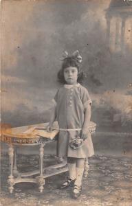 Cute Little Girl Rose Flower, Vintage Photography