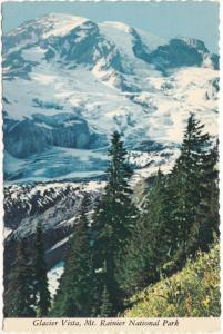 Glacier Vista, Mt. Rainier National Park, Washington, unused Postcard