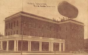 Red Oak IA~Hotel Johnson~Fantasy Airship Dirigible~Roof~Adelia Just Dandy~1914