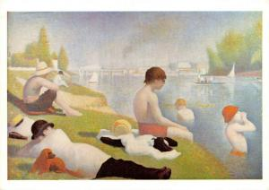 Postcard Bathers at Atasnieres (1884) by Georges-Pierre Seurat 57P
