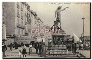 Toulon Old Postcard Quai Kronstadt Marine Engineering