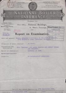 Lincoln Maternity Home Newlands Gas Boiler 1936 Inspection Letter Ephemera