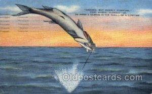 Fort Myers, Florida, USA Fishing 1942 postal marking on front, postal used 1942