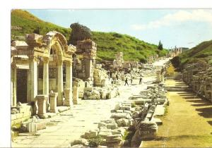 Postal 022596 : Efes - Turkey, Ephesus, Temple of Hadrianus and Curetiae strect