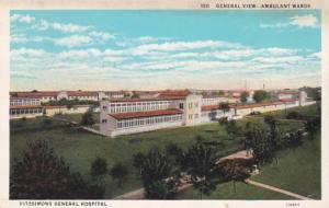 Colorado Denver Fitzsimmons General Hospital General View Ambulant Wards Curt...