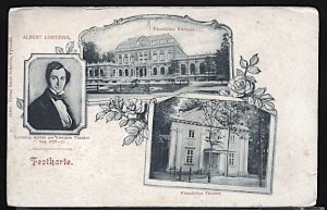 German Composer Albert Lortzing and Views of Detmold Theater and Spa (Kurhaus)
