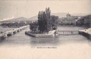 Switzerland Geneve et le Mont-Blanc 1903