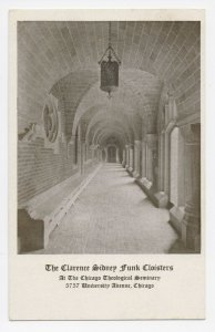 Clarence Sidney Funk Cloisters - Chicago Theological Seminary Postcard Unposted