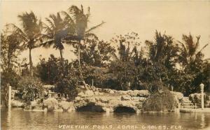 Coral Gables Florida 1930s Venetian Pools RPPC real photo postcard 10198