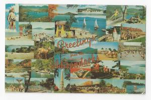New York Greetings from the Adirondacks NY Multiviews Vintage 1960 Postcard