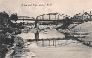 Bridge and Falls, Lisbon, New Hampshire, Very Early Postcard, Unused