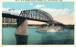 USA L. & N. Bridge Between Newport Ky and Cincinnati Ohio 05.00