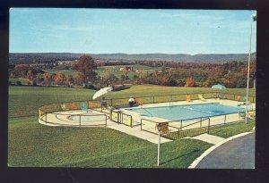 Breezewood, Pennsylvania/PA Postcard, Swimming Pool,  Breeze Manor Motel