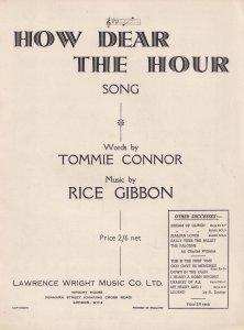How Dear The Hour Rice Gibbon Olde Sheet Music