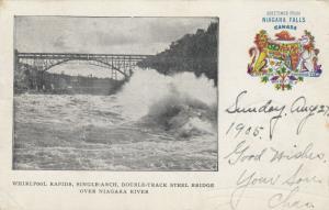 Whirlpool Rapids , Ontario , Canada ,1905 ; NIAGARA FALLS