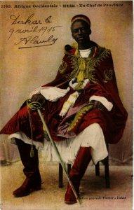 CPA AK Fortier 1163 Afrique Occidentale- Un Chef de Province SENEGAL (812089)