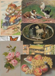 Artist Signed Animals Cats Dogs And More Postcard Lot of 20  01.15