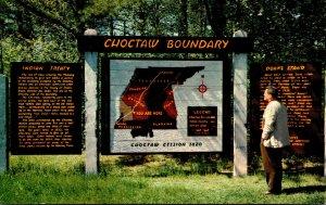 Mississippi Natchez Trace Parkway Choctaw Boundary Indian Treaty Marker