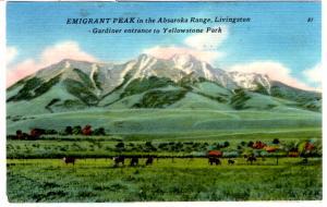 TICHNOR, EMIGRANT PEAK, Gardiner entrance to Yellowstone Park