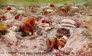 British Soldiers (Tommy) - Sleeping in Shell Holes (Military)