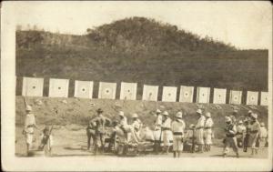 Gauntanamo Bay Cuba Naval Camp Rifle Range c1910 Real Photo Postcard
