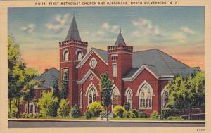 First Methodist Church and Parsonage, North Wilkesboro, North Carolina, PU-1947