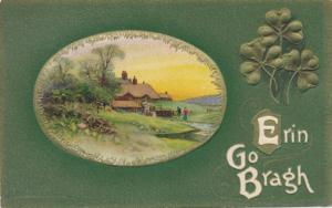 St Patricks Day Greetings - Rural Scene - Erin Go Bragh - DB