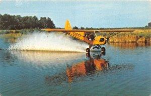 H30/ Wabash Indiana Postcard Chrome Stunt Airplane Flying Swango Mr Impossible
