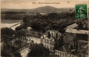CPA AK METZ - Ile de la Poudriere et St-QUENTIN (650997)