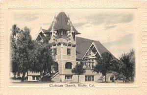 F81/ Rialto California Postcard c1910 Christian Church Building